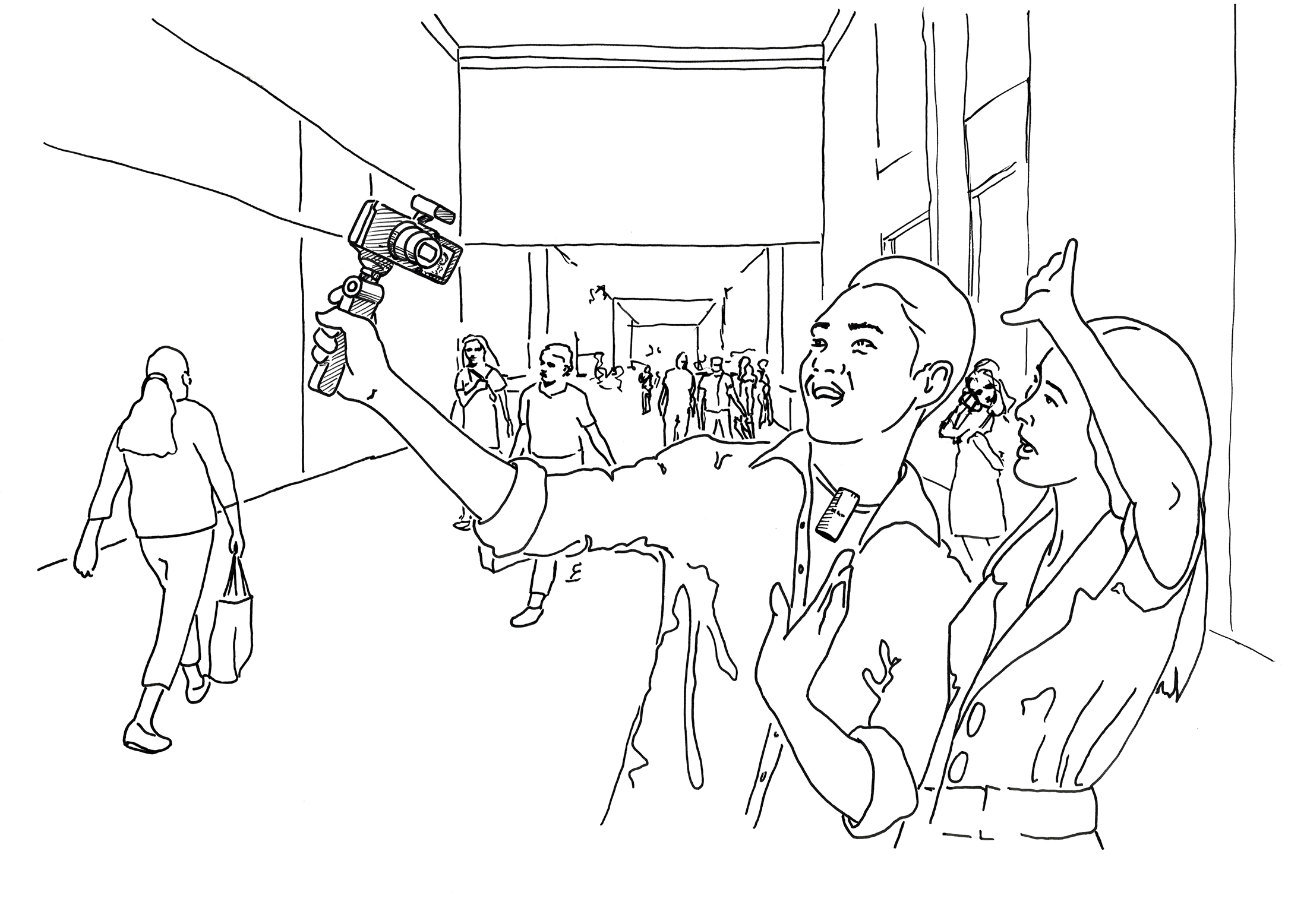 Illustration of Mall Setting