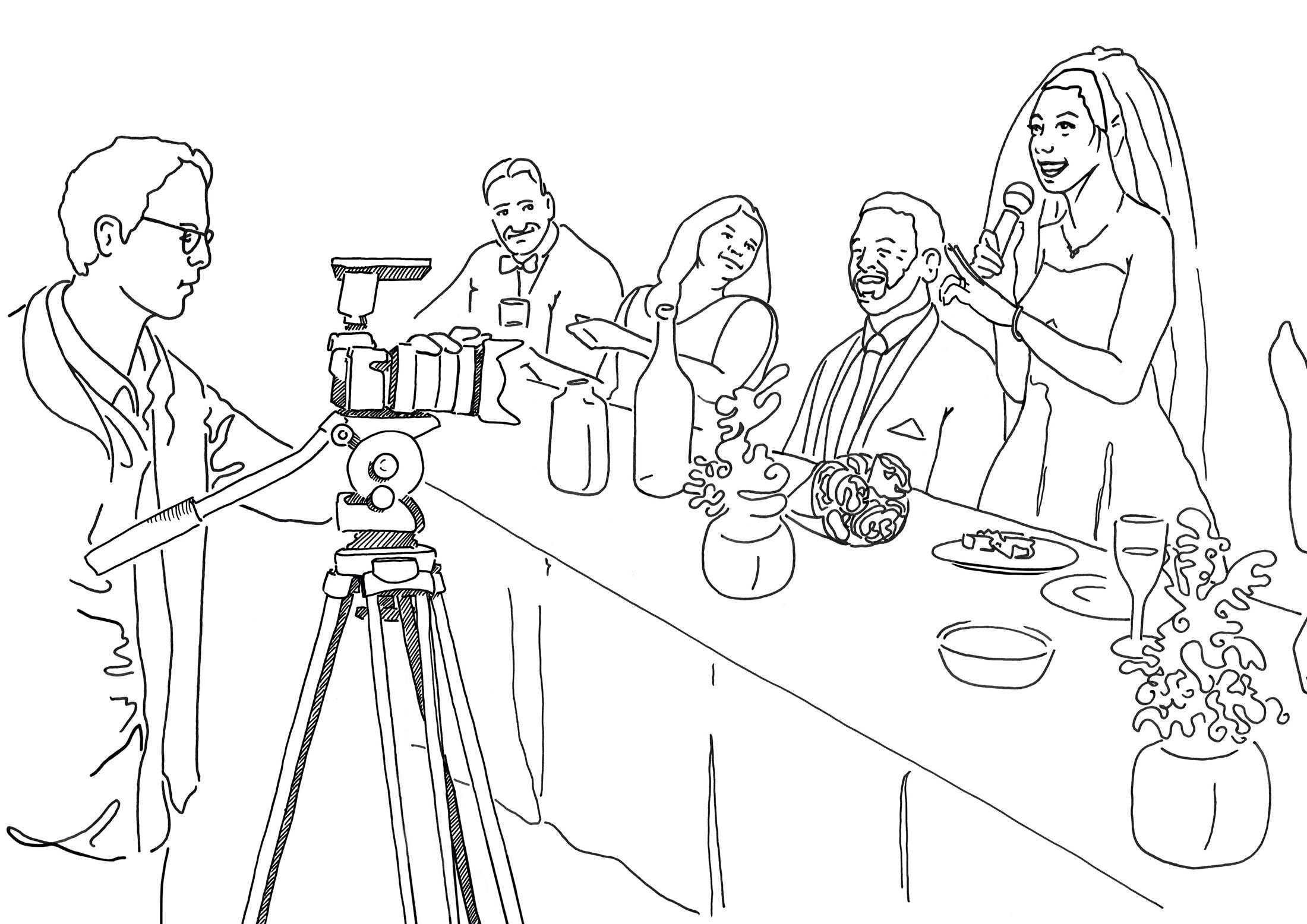 Illustration of Wedding Setting