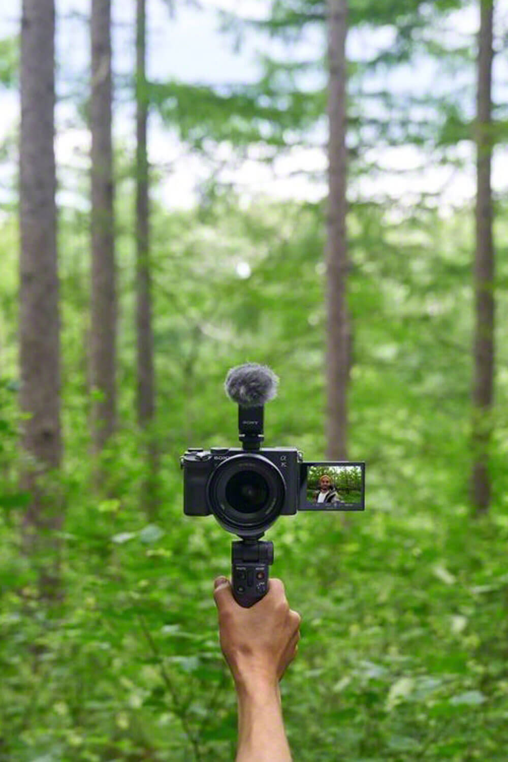 Movie making with shooting grip