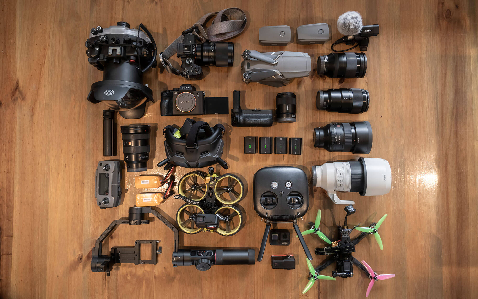 Benn's Camera Kit Flatlay Image