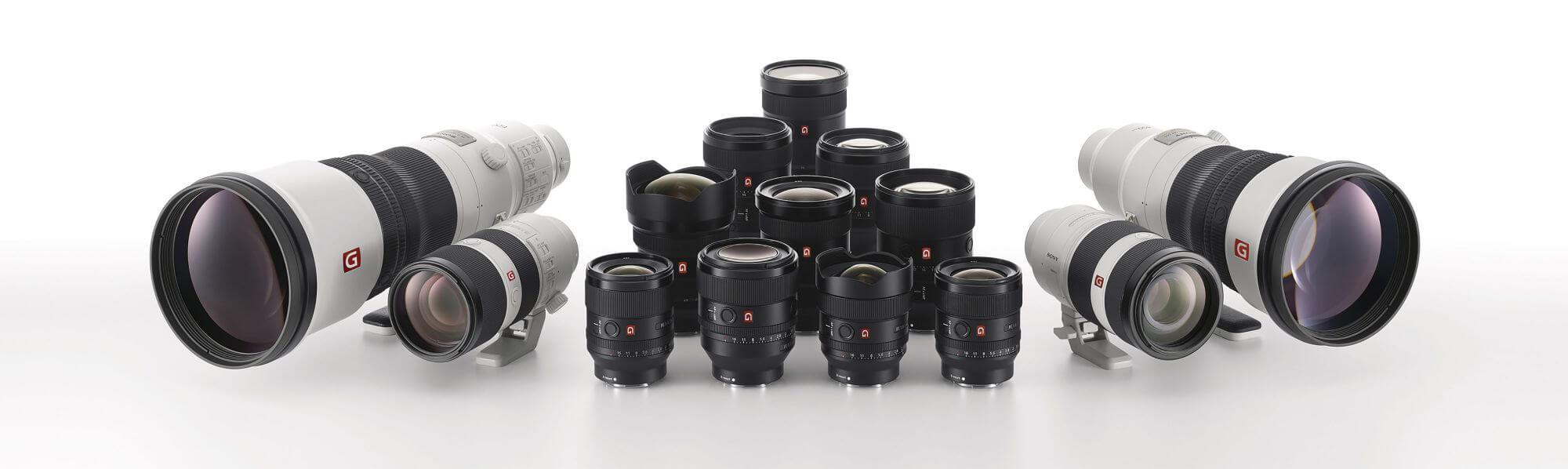 Group shot of GM Lenses