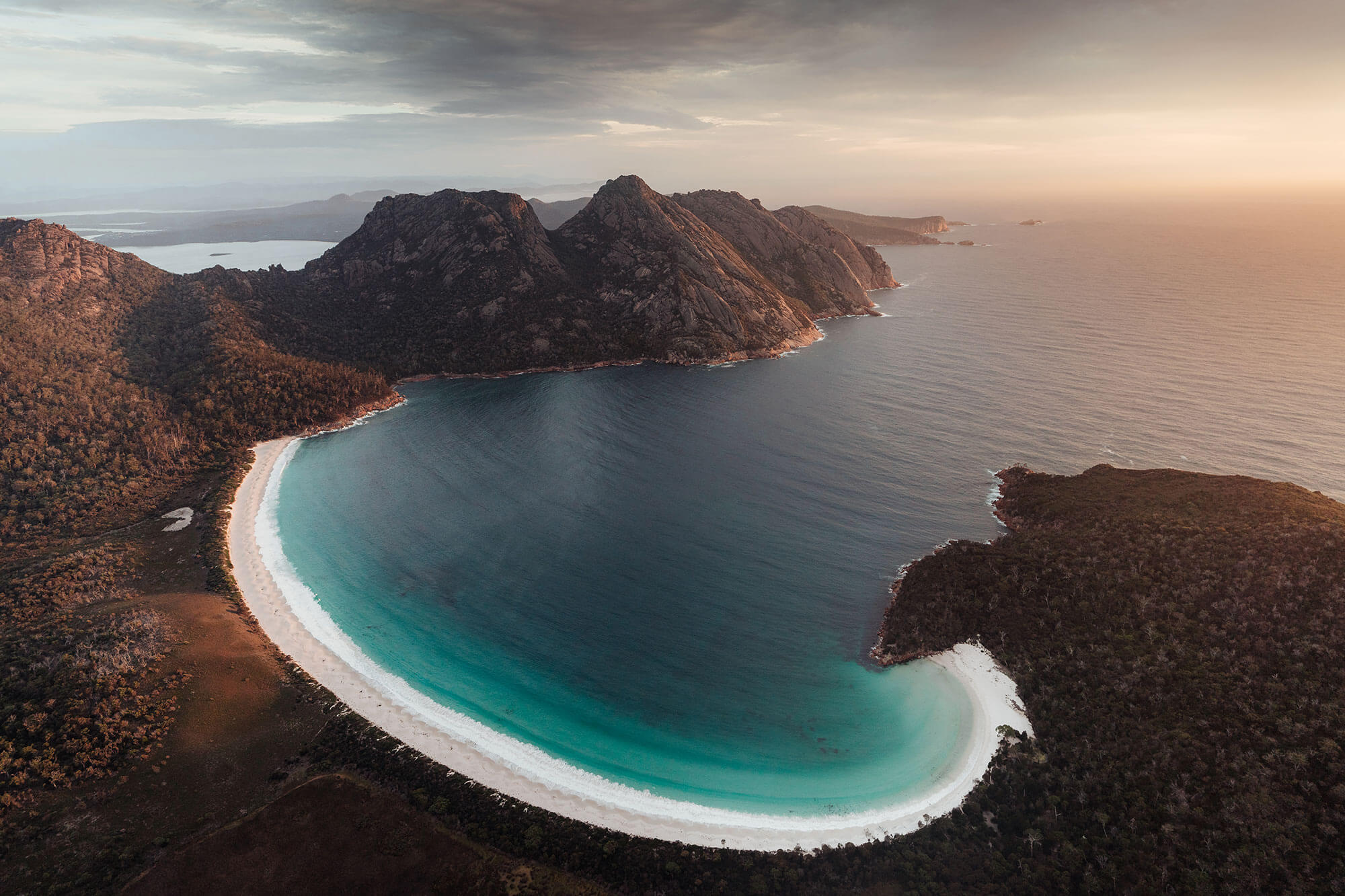 Aerial photo of beach by Jason Charles Hill